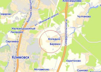 дер. Коледино на карте