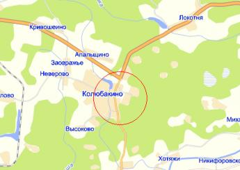 пос. Колюбакино на карте