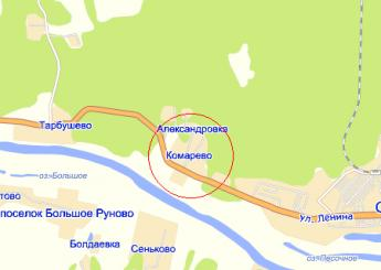 село Комарёво на карте