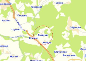 дер. Космынка на карте