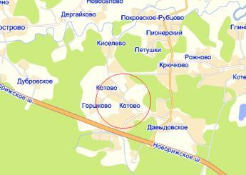 пос. Котово на карте