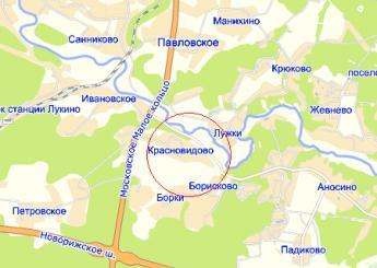 дер. Красновидово на карте