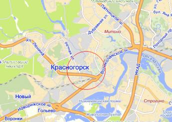г. Красногорск на карте