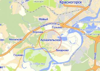 пос. Архангельское на карте