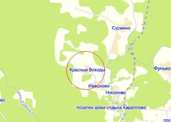 дер. Красные Всходы на карте