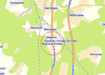 дер. Красные Холмы на карте