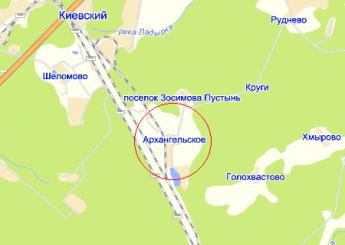 дер. Архангельское на карте