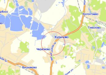 село Кудиново на карте