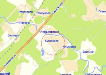 дер. Кузнецово на карте