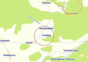 дер. Атеевка на карте
