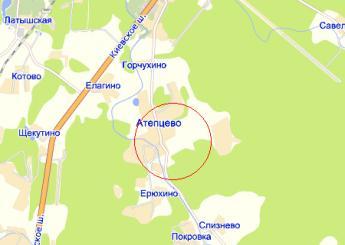 село Атепцево на карте