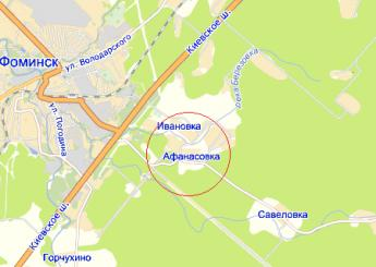 дер. Афанасовка на карте