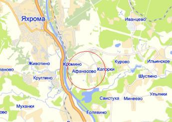 дер. Афанасово на карте
