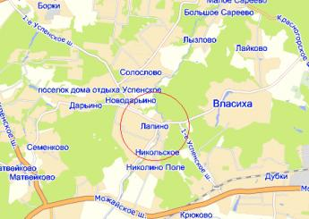 дер. Лапино на карте