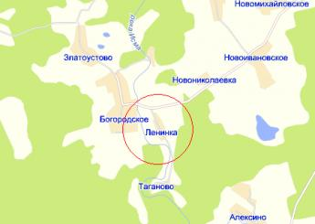 дер. Ленинка на карте