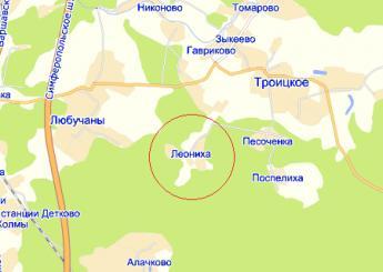 дер. Леониха на карте