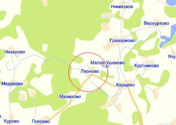 дер. Леоново на карте