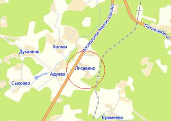 дер. Лисавино на карте