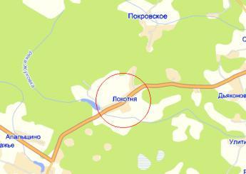 село Локотня на карте