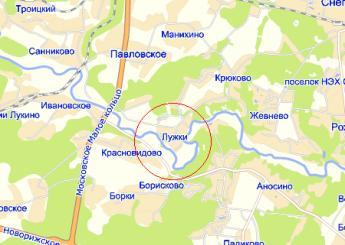 дер. Лужки на карте