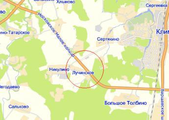 Лучинское на карте
