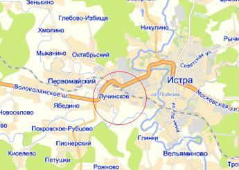 село Лучинское на карте