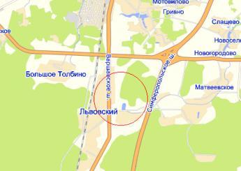 пос. Львовский на карте