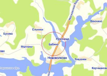 дер. Бабино на карте