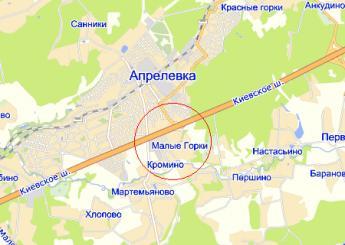 дер. Малые Горки на карте