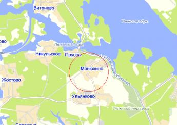 дер. Манюхино на карте