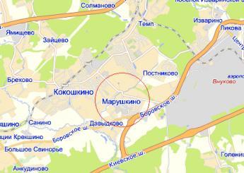 дер. Марушкино на карте