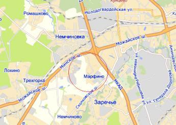 дер. Марфино на карте
