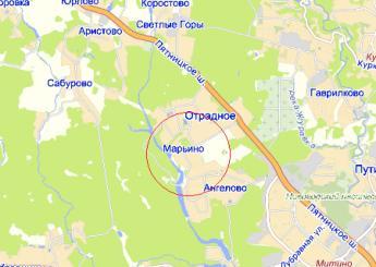 дер. Марьино на карте