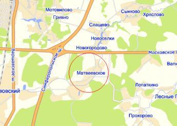 дер. Матвеевское на карте