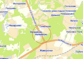 дер. Матвейково на карте