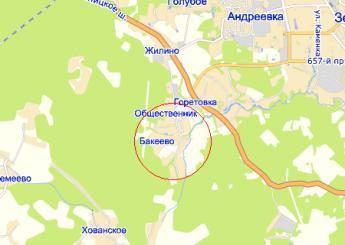 дер. Бакеево на карте