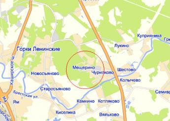 пос. Мещерино на карте