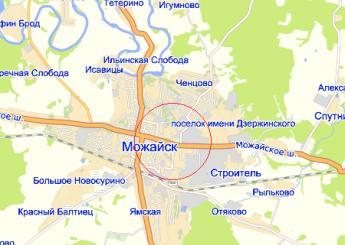 г. Можайск на карте