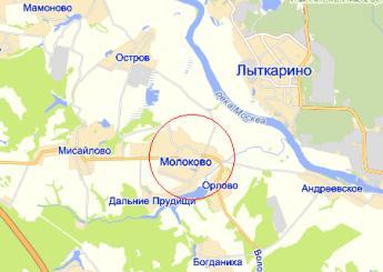 село Молоково на карте