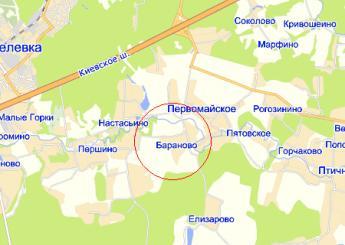 дер. Бараново на карте