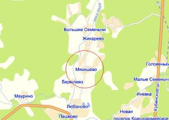 дер. Мякишево на карте