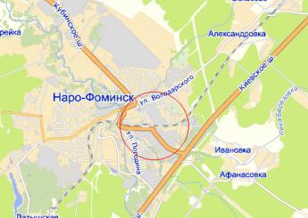 г. Наро-Фоминск на карте