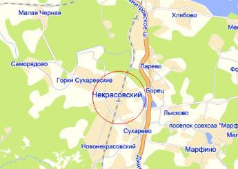 пос. Некрасовский на карте
