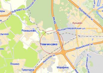 село Немчиновка на карте