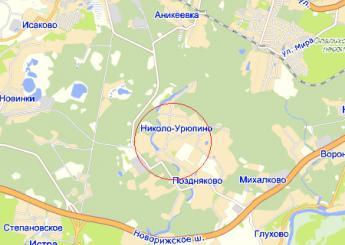 село Николо-Урюпино на карте
