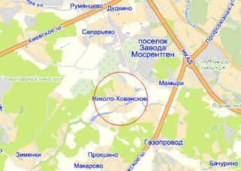 дер. Николо-Хованское на карте