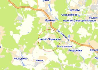 дер. Николо-Черкизово на карте