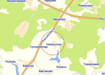 село Никольское на карте