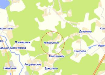 дер. Никольское на карте