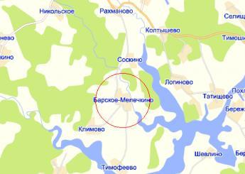 дер. Барское-Мелечкино на карте
